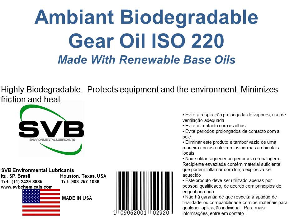 Biodegradable Gear Oil